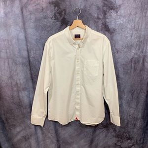 Untuckit White Cotton Longsleeve Button Down XL